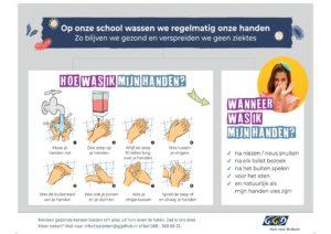 Poster Handen wassen