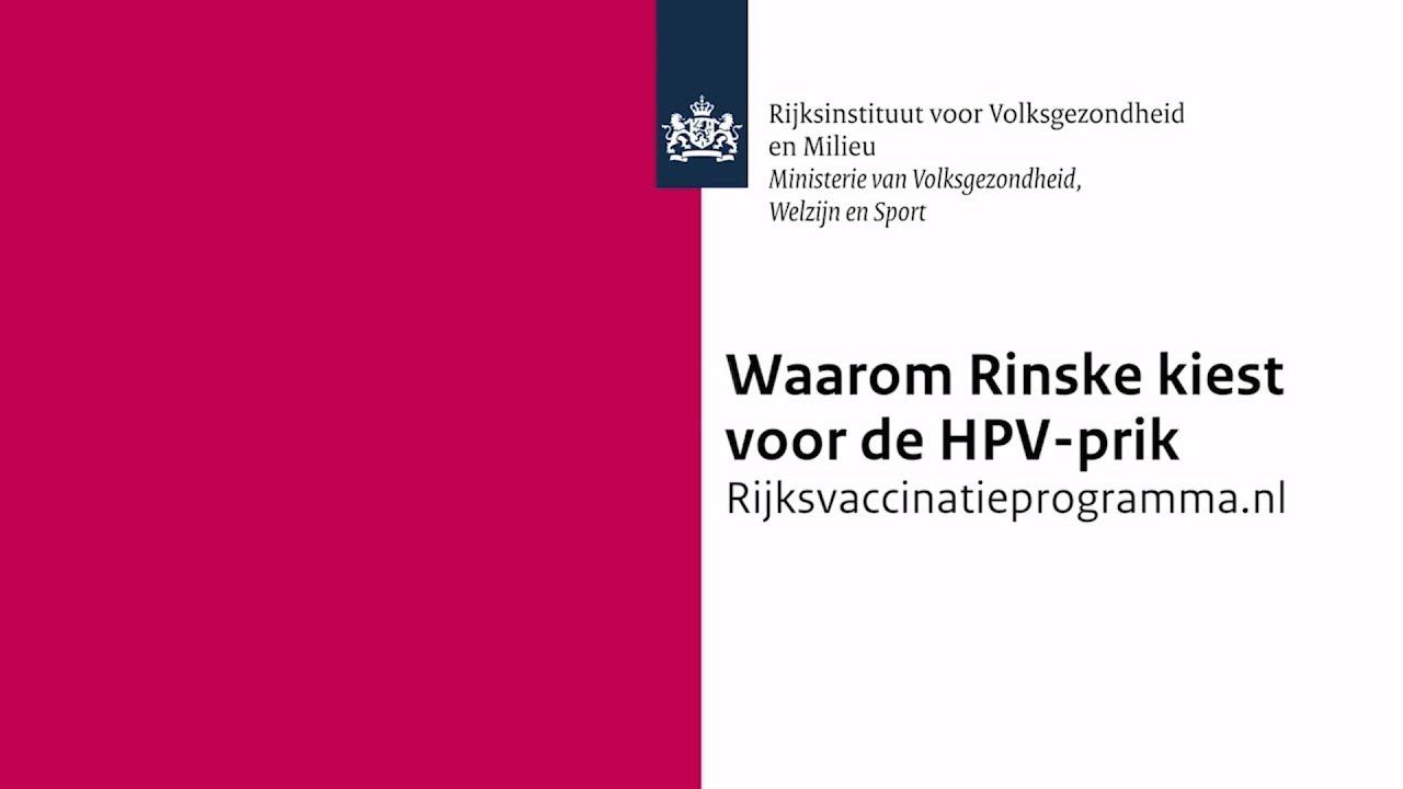 RIVM | Waarom Rinske kiest voor de HPV-prik