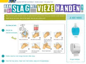 Lespakket handen wassen voor leerlingen